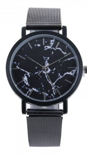 v5 Marble Face Ladies Watch - Black