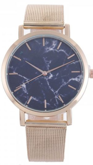 v5 Marble Face Ladies Watch - Rose Gold