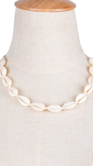 Adjustable Shell Choker Necklace