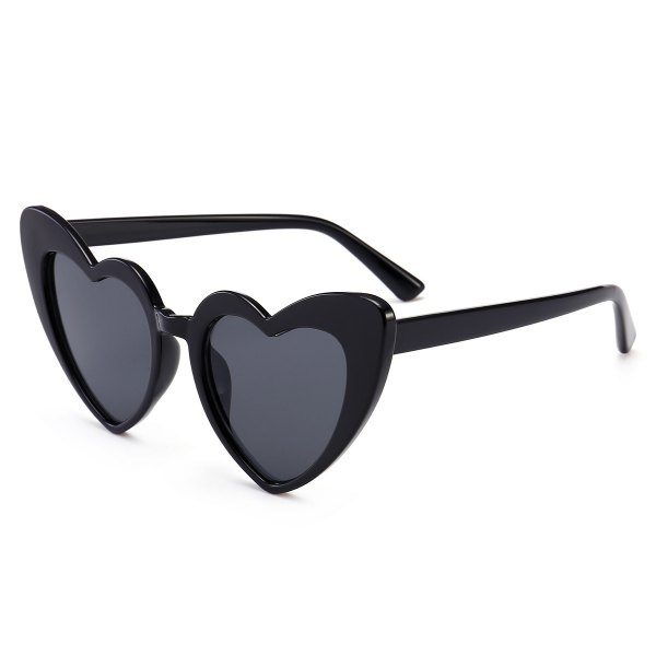 Full Frame Heart Shapes Sunglasses Black n Grey