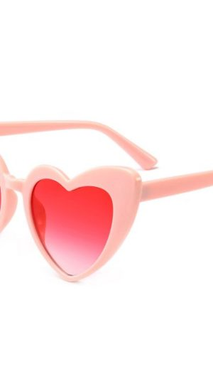 Full Frame Heart Shapes Sunglasses Pink n Pink